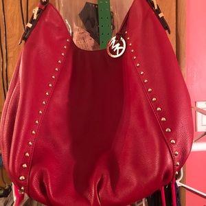 Michael Kors Red Studded Handbag Preowned